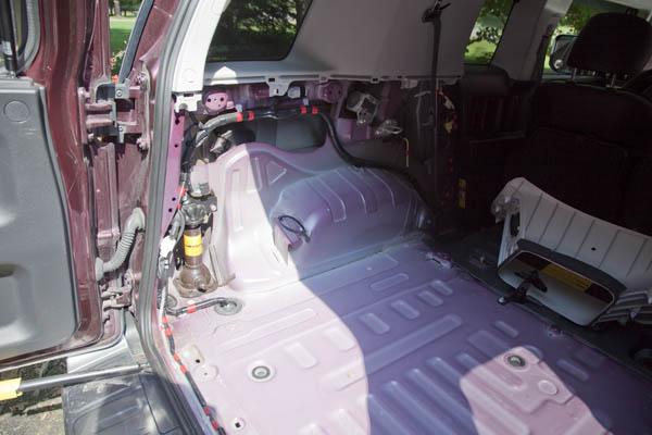 mobile fj cruiser amateur radio install com driver s side rear section