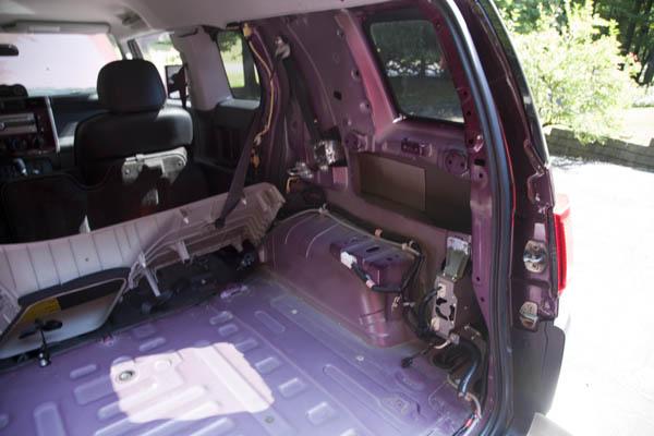 mobile fj cruiser amateur radio install com passenger s side rear section