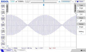 Fldigi reference waveform showing 1.9Vpp amplitude