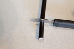 Removing polyethylene sheath