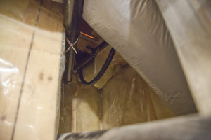 Liquid tight conduit from mechanical room to attic