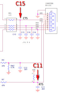 DSP232+ RS232 schematic